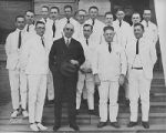 Dr. Edward H. Cary and Baylor Hospital house staff