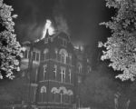 St. Paul Hospital on Bryan Street, fire, 1951